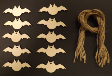 Halloween Bat Gift Tags / Price Tags 70mm Pack of 10